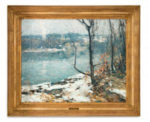 River At New Hope,Painting.