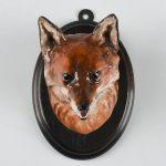 RARE ROYAL DOULTON ANIMAL FIGURE WALL PLAQUE, FOX HEAD
