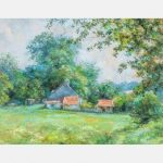 THERESA KNOWLES, (AMERICAN, 1918-2008) - RURAL LANDSCAPE/Auctiondaily