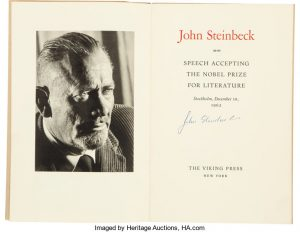 ohn Steinbeck Signed Copy of Speech Accepting the Nobel Prize in Literature Stockholm/AuctionDaily