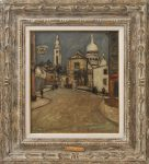"""Maurice Utrillo """"Montmartre"""" Oil on Board/Auctiondaily"""