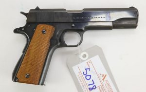 Colt Government Model semi automatic pistol WW2 paratrooper owned