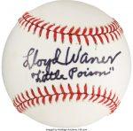 1978 Lloyd Waner Single Signed Baseball, PSA/DNA Auto Mint 9