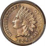 1864 1C Copper-Nickel MS66+ PCGS.