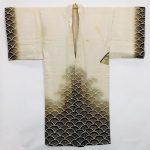 Japanese Edo Period Men's Figural Silk Kimono