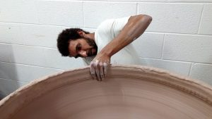 The artist Ibrahim Said, whose work is on view at the Clay Studio in Philadelphia. The studio has been awarded a project grant by the Pew Center for Arts & Heritage.