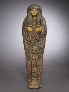 AN EGYPTIAN PAINTED WOOD ANTHROPOID COFFIN FOR PA-DI-TU-AMUN/AuctionDaily
