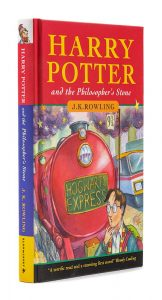 ROWLING, J. K. Harry Potter and the Philosopher's Stone. London: Bloomsbury, 1997. FIRST EDITION, FIRST IMPRESSION, SIGNED BY ROWLING/Auctiondaily