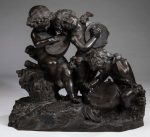 """Astride Petrelli signed bronze, 19th c., 27""""w/AuctionDaily"""