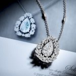Tiffany & Co. 3.96-Carat Pear-Shaped Diamond Necklace with Ring Mounting