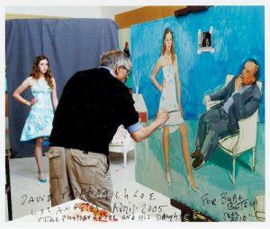 Jim McHugh (American, 20th Century) David Hockney painting Chloe and Untitled (Los Angeles Scene)