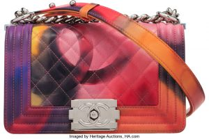 Chanel Flower Power Quilted Lambskin Leather Small Boy Bag. Condition