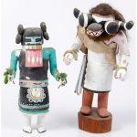 Hopi Anya Mana (Corn Maiden) AND Tahaum Soyoko (Black Ogre's Uncle) Katsinas, From The Harriet and Seymour Koenig Collection, New York
