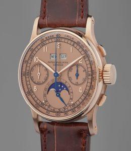Patek Philippe- Pink Gold Perpetual Chronograph Wristwatch