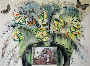 "Salvador Dali Currier & Ives Series. ""Landscape Fruit and Flowers"""