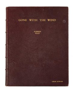 A Leslie Howard custom-bound final shooting script of Gone With the Wind, gifted to him by David O. Selznick