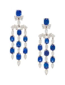 Oscar Heyman & Brothers, Sapphire and Diamond Earclips