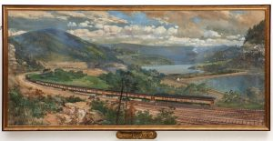 CHARLES GRAHAM PAINTING OF PRR LIMITED EXPRESS C. 1880