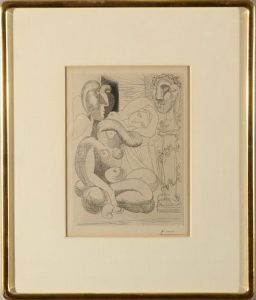 Pablo Picasso Dormeuse Et Sculptures Etching
