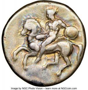 CALABRIA. Tarentum. Ca. 380-340 BC. AR didrachm