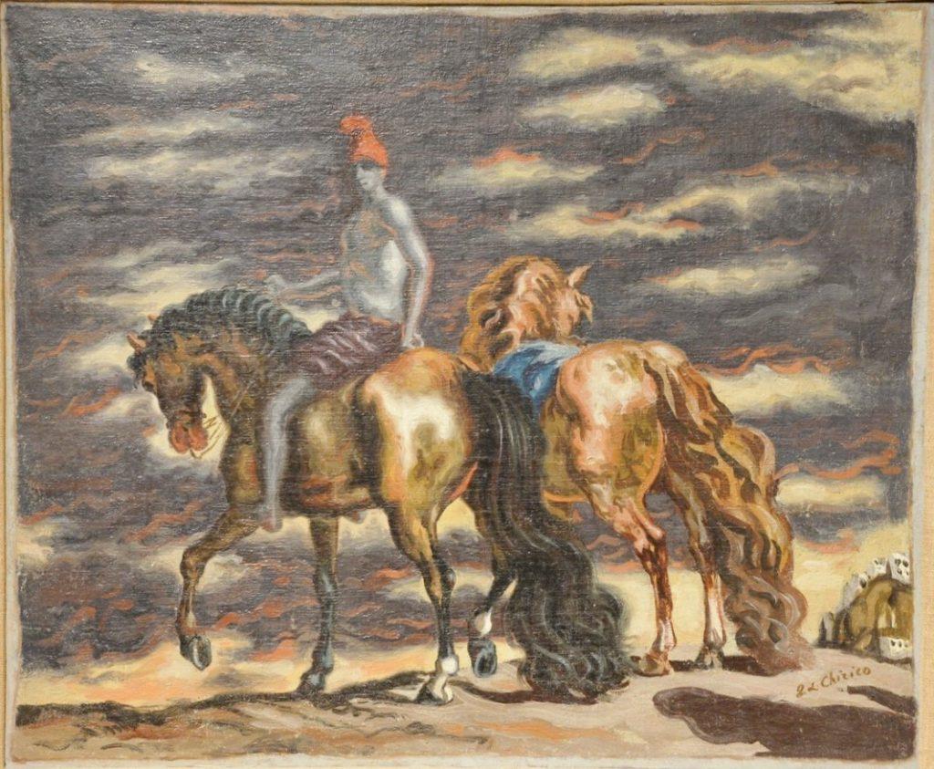 Giorgio De Chirico (1888 - 1978), Cavalli in Riva al Mare