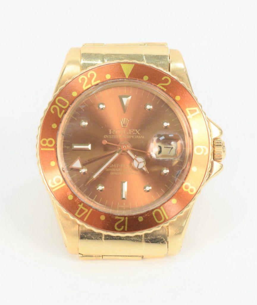 Rolex 18 Karat Gold GMT Master Watch