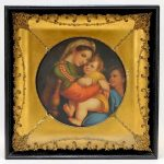 FINE 19C German Madonna Della Sedia Porcelain