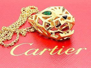 CARTIER 18K GOLD STSAVORITE GARNET ONYX PENDANT