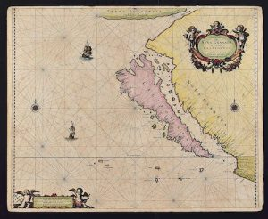 Pieter Goos Map of California as an Island 1666
