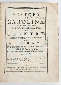 Lawson's History of Carolina, 1714 and 1860