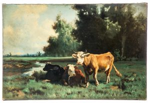 CATTLE BY ROBERT ATKINSON FOX (PENNSYLVANIA, 1860-1935)