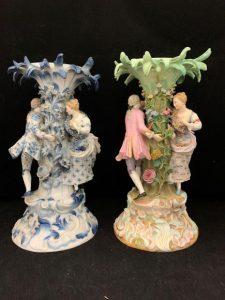 Two Meissen Porcelain Figural Centerpiece Bases