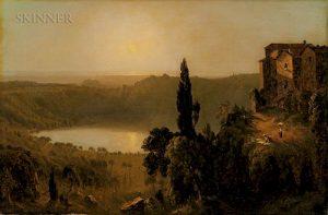 Sanford Robinson Gifford (American, 1823-1880) Sketch of the Lago di Nemi