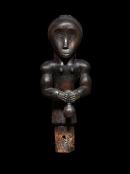 Fang Ancestral Reliquary  Gabon, Africa  19th Century  Wood, H: 16 3/4   Exhibitor: Tambaran