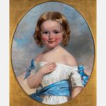 Henry Inman (American, 1801-1846) Portrait of a Young Girl in a White Dress, Oil on canvas