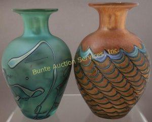 2 ROBERT HELD ART GLASS VASES