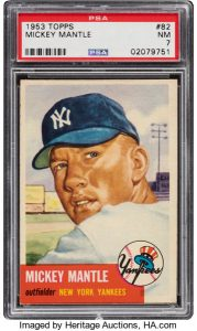 1953 Topps Mickey Mantle (SP) #82 PSA NM 7