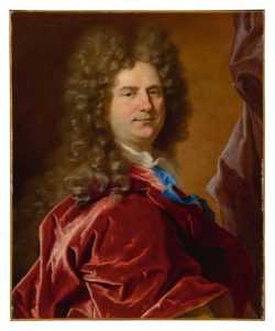 HYACINTHE RIGAUD - PORTRAIT OF A GENTLEMAN, HALF-LENGTH, IN A RED MANTLE
