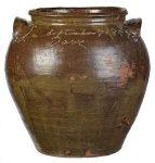 Monumental Dave Edgefield Stoneware Jar