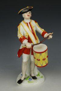Meissen Figurine 443 Saxon Soldier with Drum