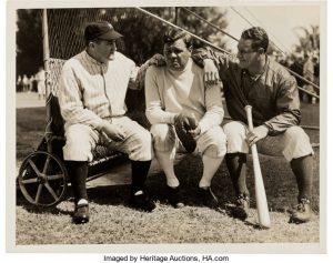 1934 Babe Ruth, Lou Gehrig & Joe McCarthy Original News
