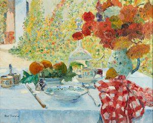 Louis Abel-Truchet Le Dejeuner au Jardin Oil on Canvas