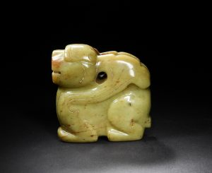 Chinese Yellow Jade Carved Beast, Ming or Earlier