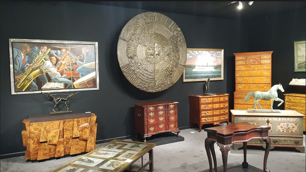 The Thistlethwaite Americana booth at The Winter Show