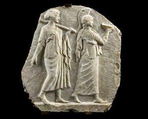 Roman Marble Relief of Minerva & Arachne, Art Loss Cert