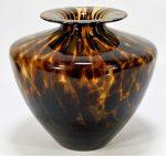 Bohemian Czech Oxblood Art Glass Splatter Vase
