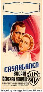 Casablanca (Warner Bros., R-1953). Folded