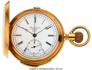 Henry Sandoz, Le Locle, 18k Gold Five Minute Repeater