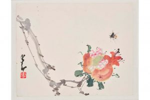 Chao Shao-an, (Chinese, 1905 - 1998), Pomegrante: Seeds of an Open Pomegranate.