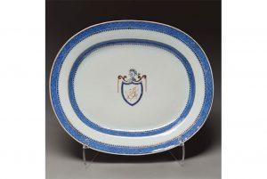 Thomas Jefferson White House China Serving Plate. Estimate: $30,000.
